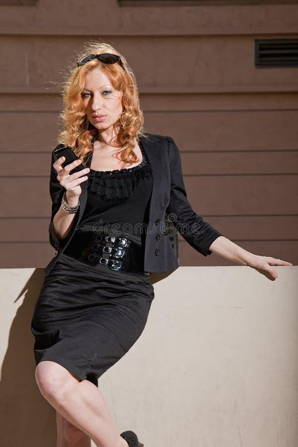 Atrakcyjny lata dwudzieste caucasian bizneswoman zdjęcia stock