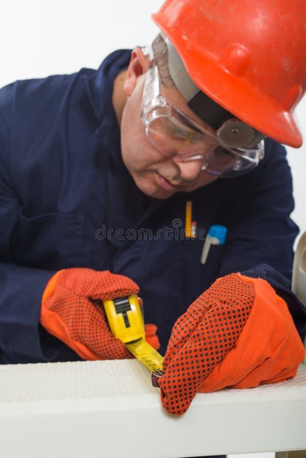 Atrakcyjny latynoski pracownik budowlany fotografia royalty free