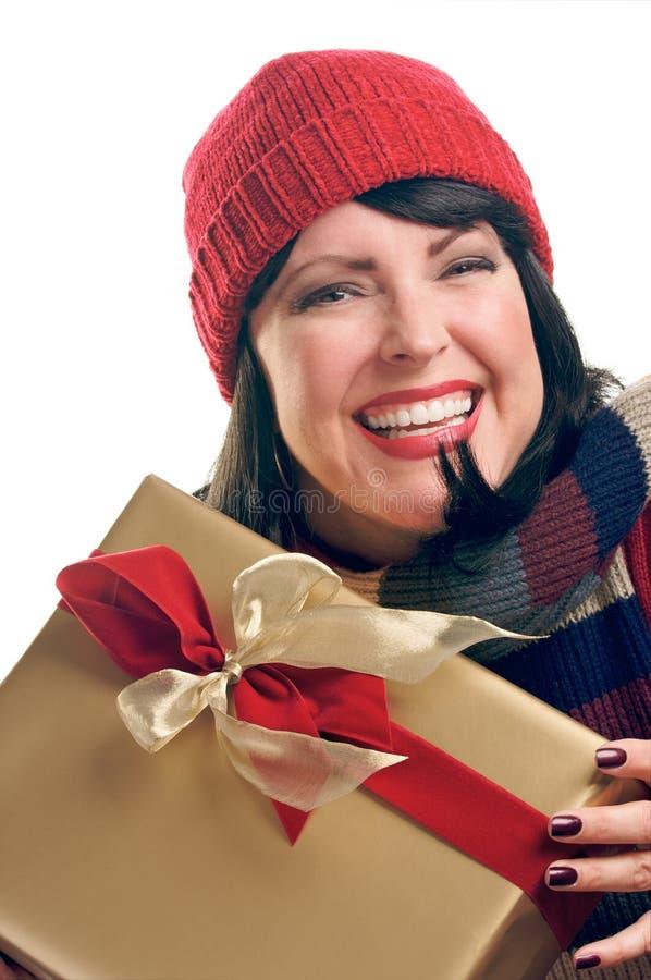 atrakcyjny prezent trzyma kobiety obraz royalty free