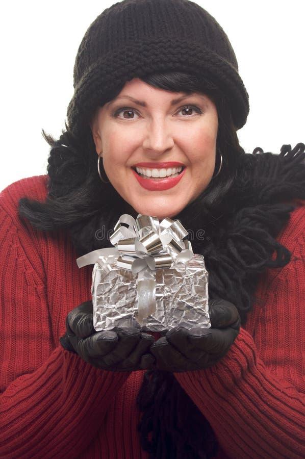atrakcyjny prezent trzyma kobiety obrazy royalty free
