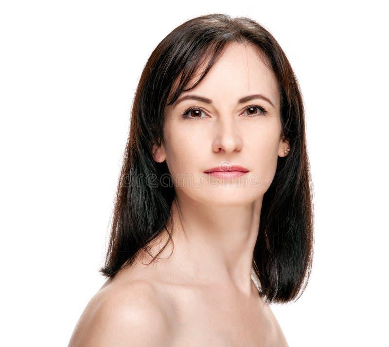 Atrakcyjny zdrowy kobieta portret zdjęcia royalty free