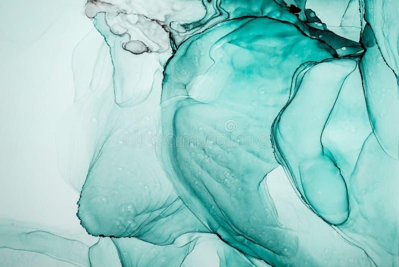 Atrament, farba, abstrakt Kolorowy abstrakcjonistyczny obrazu tło Textured nafciana farba Wysokiej jakości detaInk, farba, abstra ilustracji