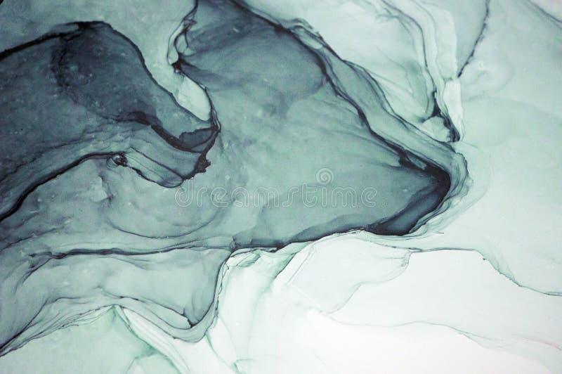 Atrament, farba, abstrakt Zbliżenie obraz Kolorowy abstrakcjonistyczny obrazu tło Textured nafciana farba Wysokiej jakości deta fotografia stock