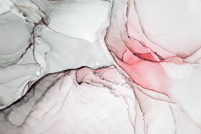 Atrament, farba, abstrakt Zbliżenie obraz Kolorowy abstrakcjonistyczny obrazu tło Textured nafciana farba Wysokiej jakości deta obrazy stock