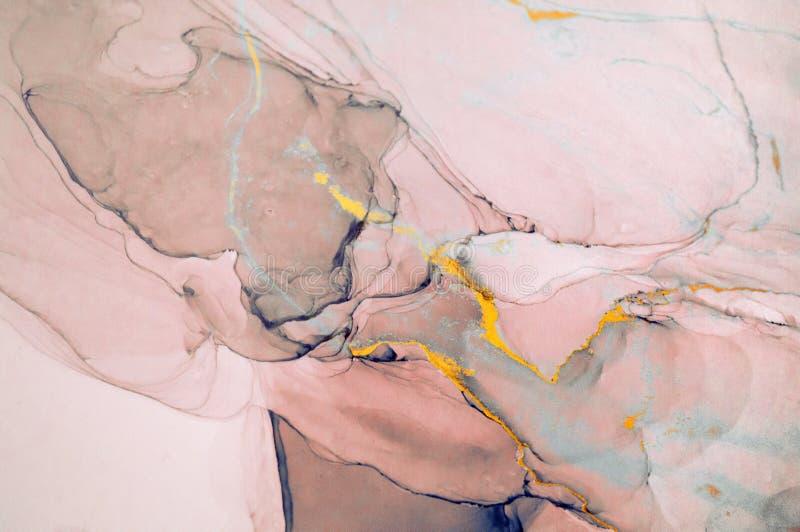 Atrament, farba, abstrakt Zbliżenie obraz Kolorowy abstrakcjonistyczny obrazu tło Textured nafciana farba Wysokiej jakości deta obraz royalty free