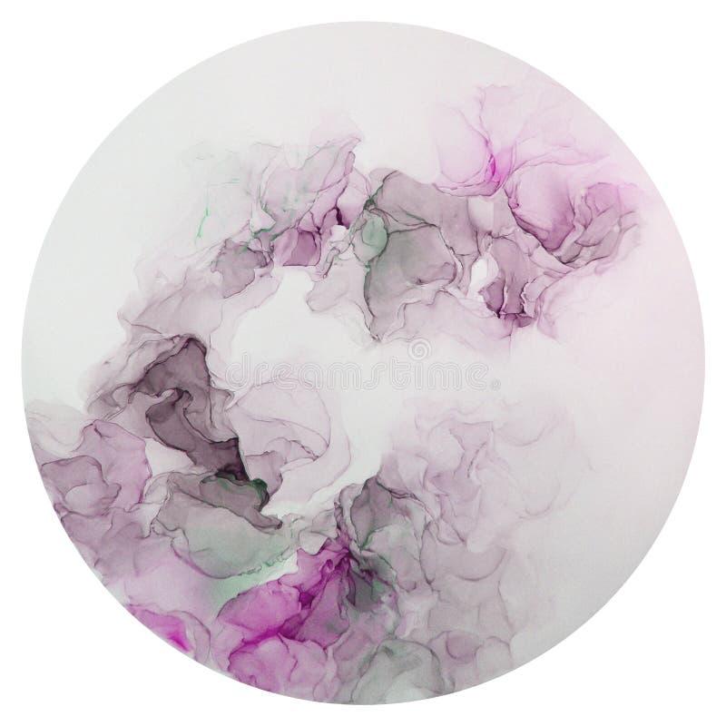 Atrament, farba, abstrakt Zbliżenie obraz Kolorowy abstrakcjonistyczny obrazu tło Textured nafciana farba Wysokiej jakości deta obrazy royalty free