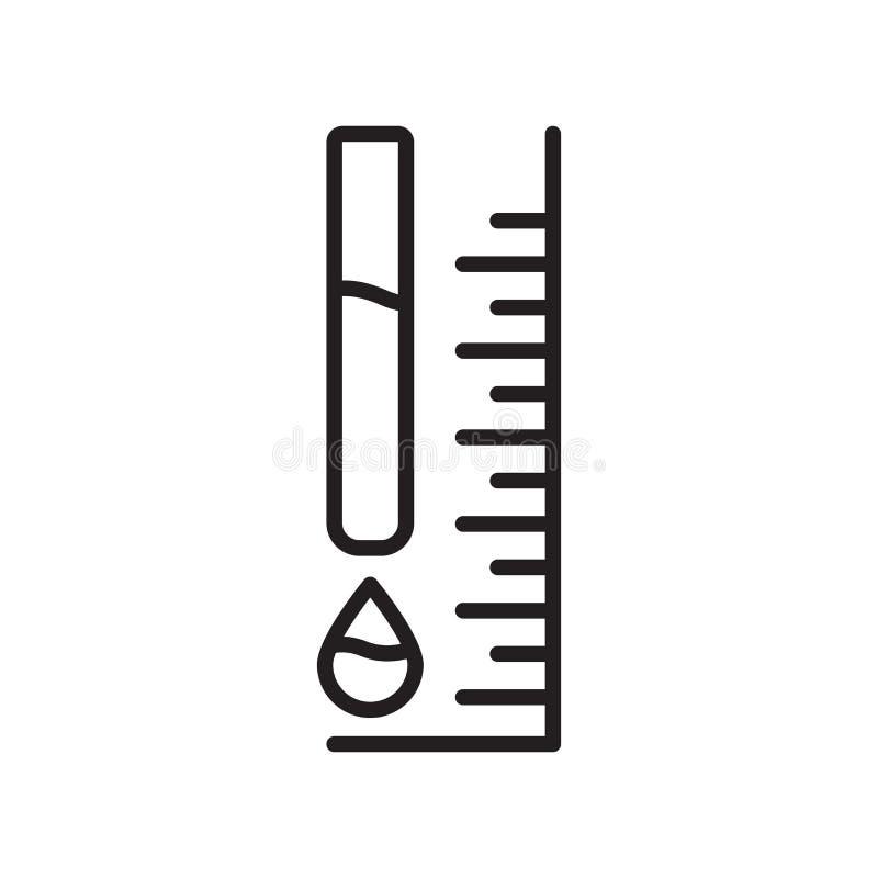 Atrament ikony równy wektor odizolowywający na białym tle, atramentu poziom si ilustracji