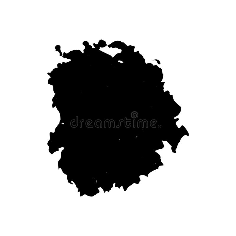 Atrament kropla lub kropla ilustracji