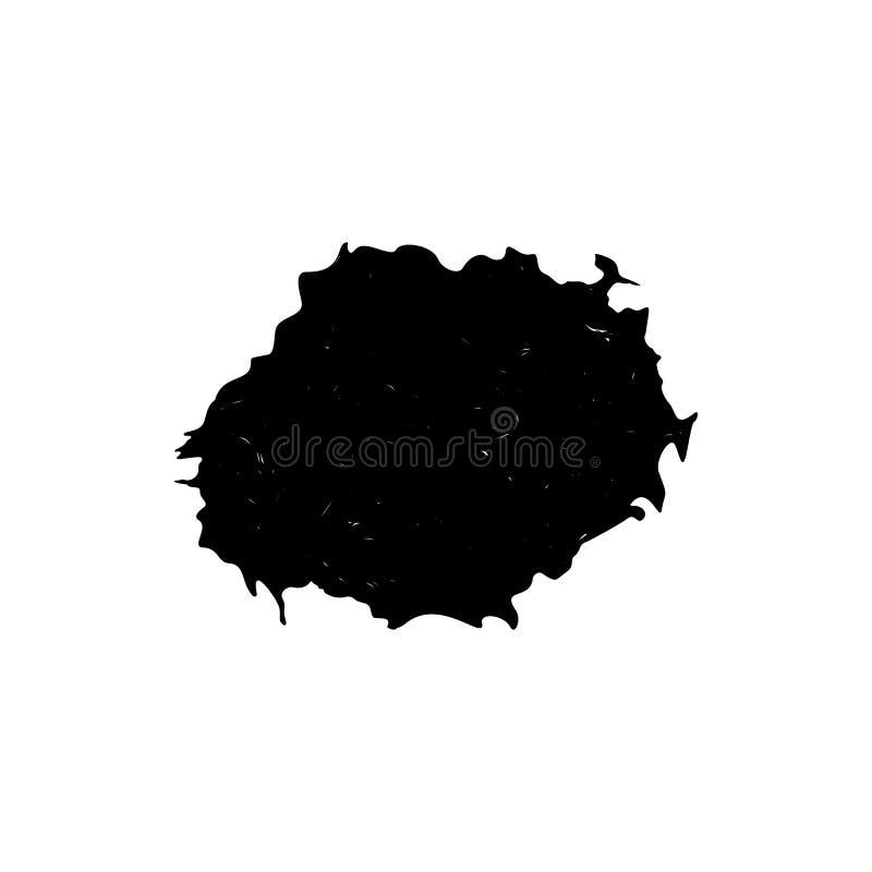 Atrament kropla lub kropla ilustracja wektor