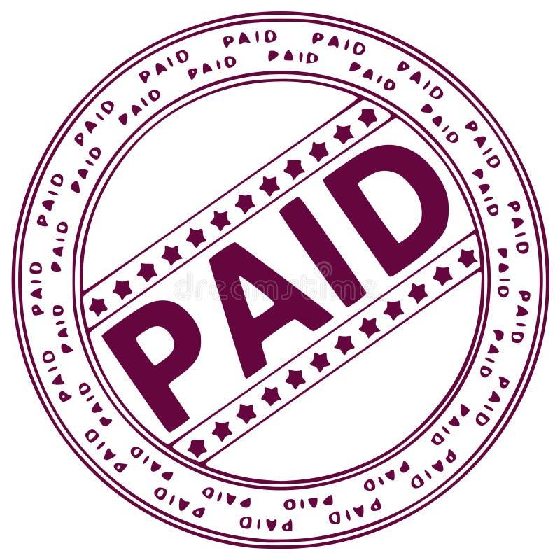atrament płacone pieczęć ilustracja wektor