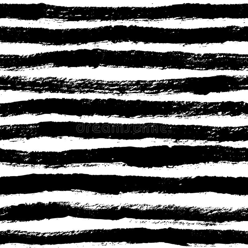 Atramentu abstrakt obdziera bezszwowego wzór Tło z artystycznym s ilustracja wektor