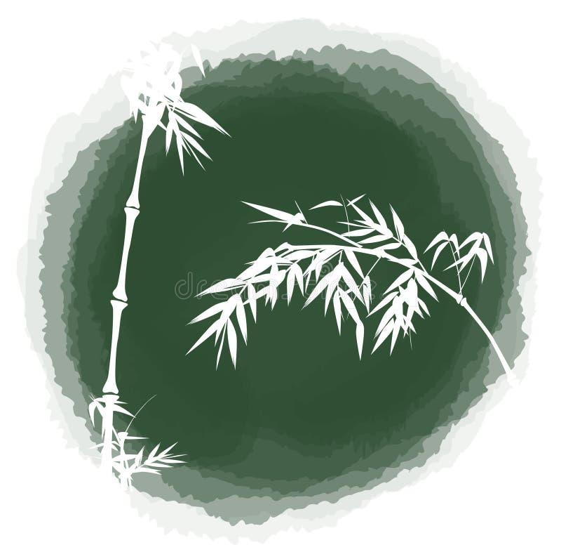 Atramentu opadowy bambus ilustracji