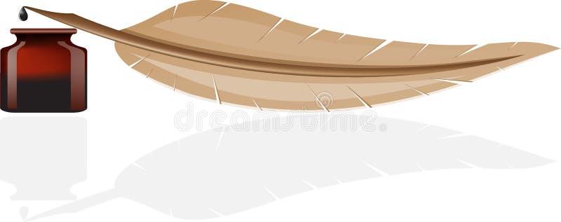 atramentu piórkowy garnek ilustracja wektor
