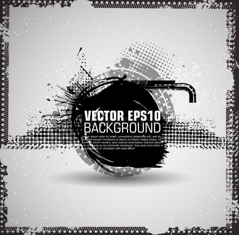 Atramentu pluśnięcia tło Czarna farba Splattered kształt tła betonowy grunge stary tynk plamiąca nawierzchniowa tekstury ściana W ilustracji