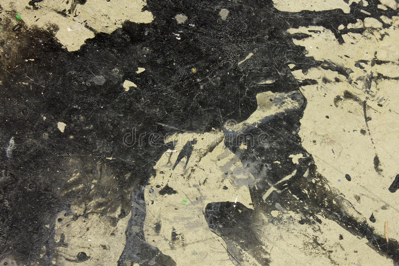 Atramentu splatter, plamy na podłogowym tle/ obrazy stock