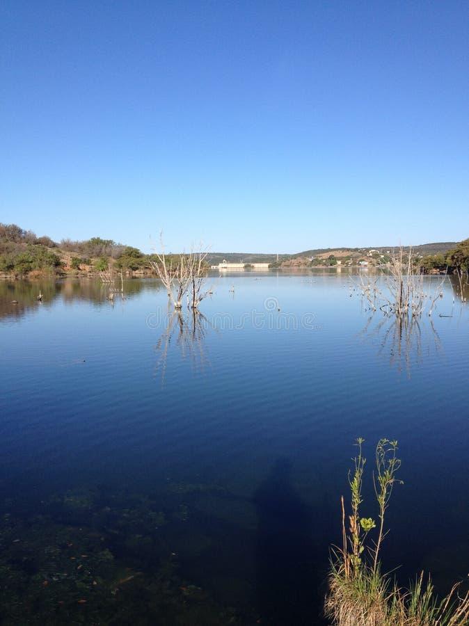 Atramenty jeziorni w Teksas wzgórza kraju zdjęcie stock