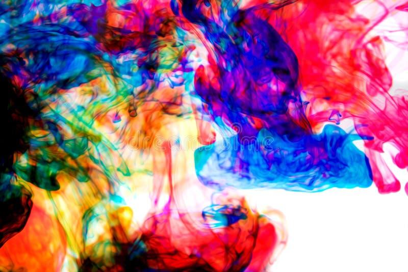 Atramenty w wodzie, kolor abstrakcja fotografia royalty free