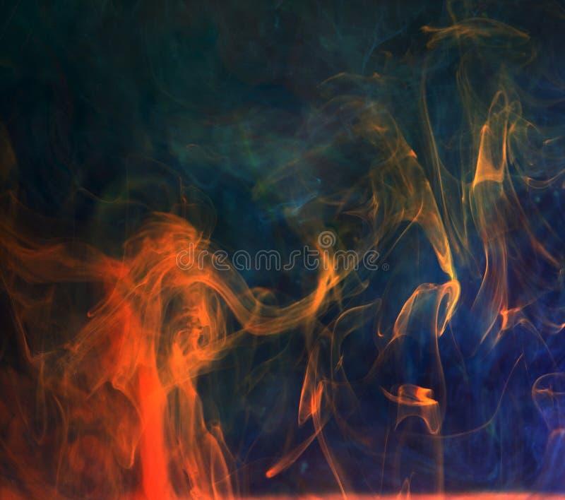 Atramenty w wodzie, kolor abstrakcja zdjęcie royalty free