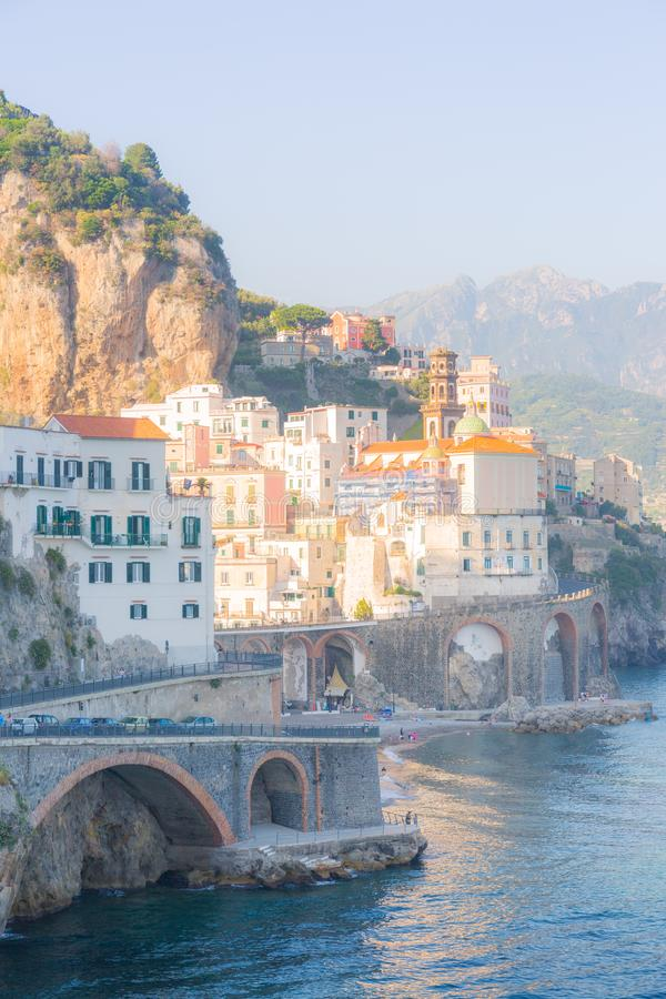 Atrani, Amalfi Coast, Campania, Italy. stock photos