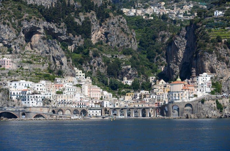 Atrani - Amalfi kust - Italië royalty-vrije stock foto