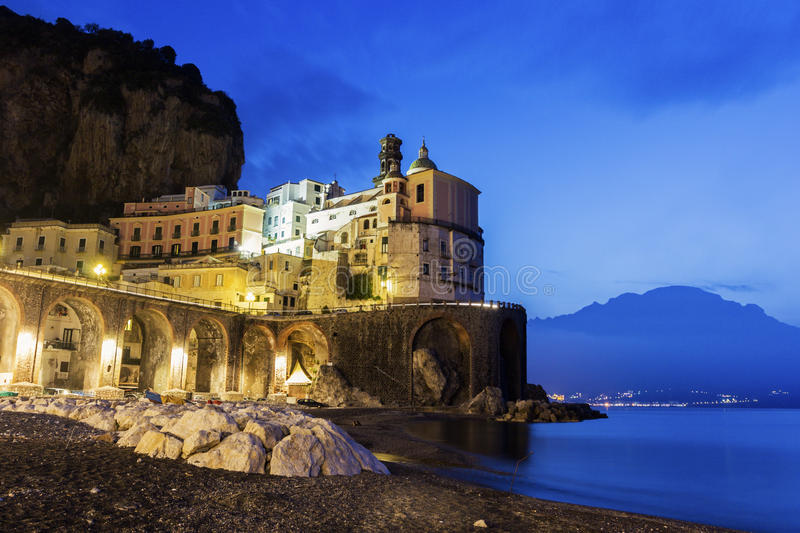 Atrani op Amalfi Kust in Italië royalty-vrije stock foto