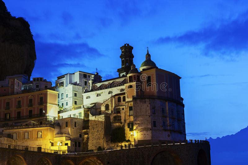 Atrani op Amalfi Kust in Italië royalty-vrije stock afbeeldingen