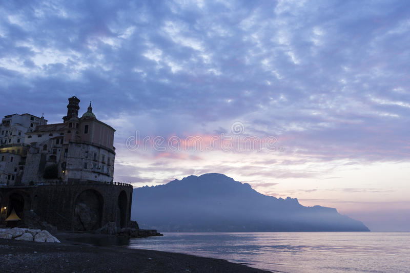 Atrani op Amalfi Kust in Italië royalty-vrije stock fotografie