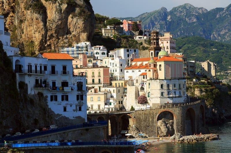 Download Atrani Resort, Italy, Europe Stock Image - Image of church, cliff: 39514819