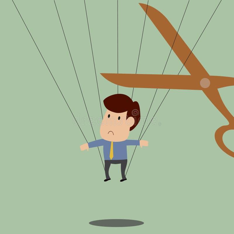 Atrapan y será lanzamiento al hombre de negocios pronto libre illustration