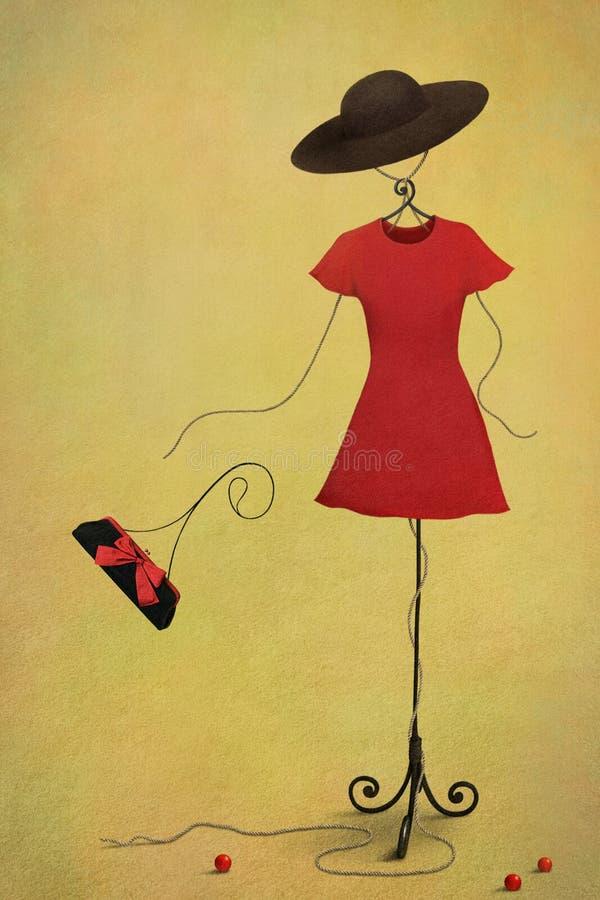 atrapy czerwień royalty ilustracja
