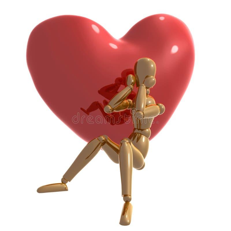atrapy desperacko postać miłości czekanie royalty ilustracja