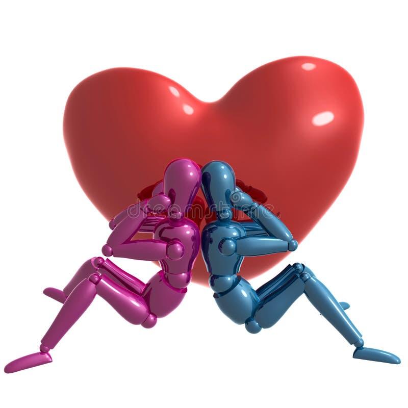 atrapy desperacko postać miłości czekanie ilustracja wektor