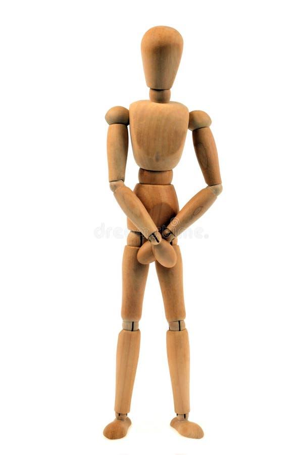 Atrapy drewniany mannequin na białym tle zdjęcia royalty free