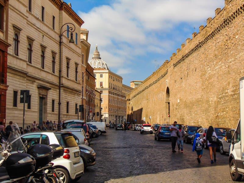 Através de Dei Corridori, Vaticano - Roma, Itália fotografia de stock