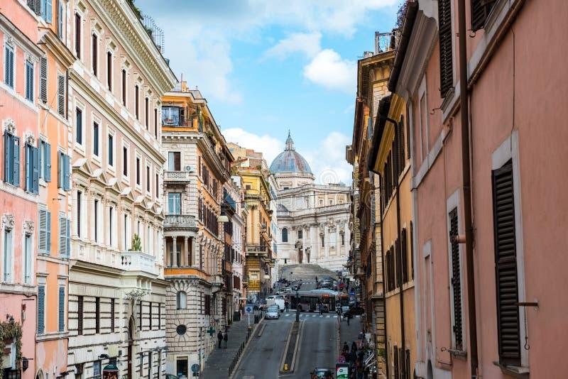 Através de di S Maria Maggiore foto de stock