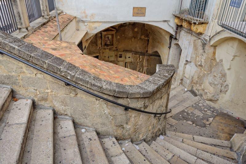 Através de Lombardi - Matera foto de stock royalty free