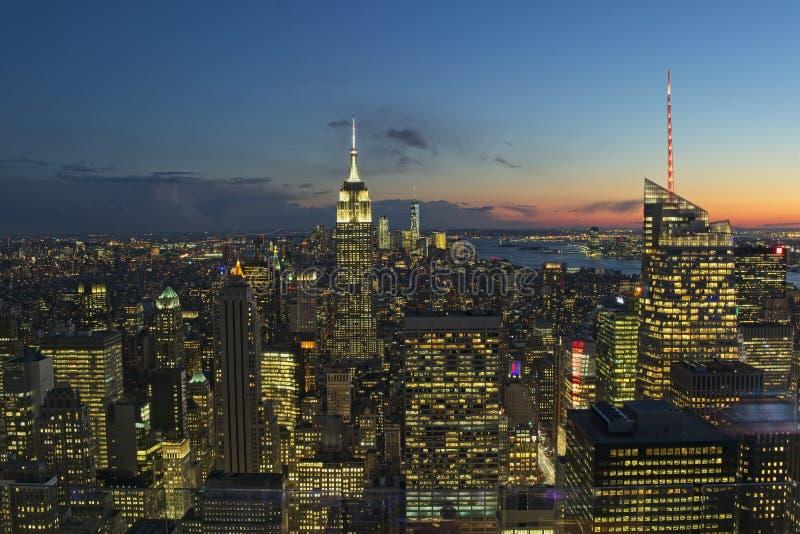 Através de New York fotografia de stock royalty free