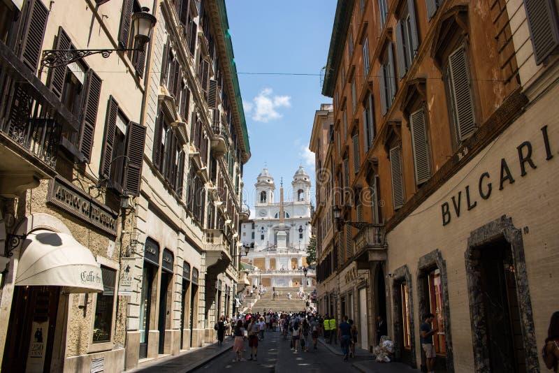 Através do dei Condotti em Roma imagens de stock royalty free