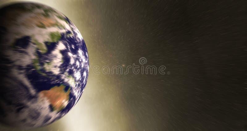 Através do universo fotos de stock