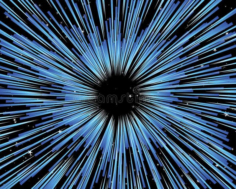 Através do universo ilustração do vetor