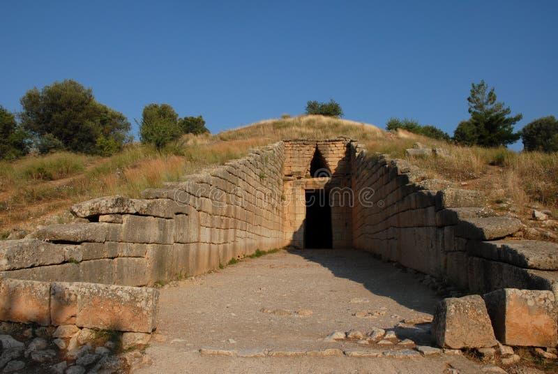 atreusgreece tomb royaltyfri foto