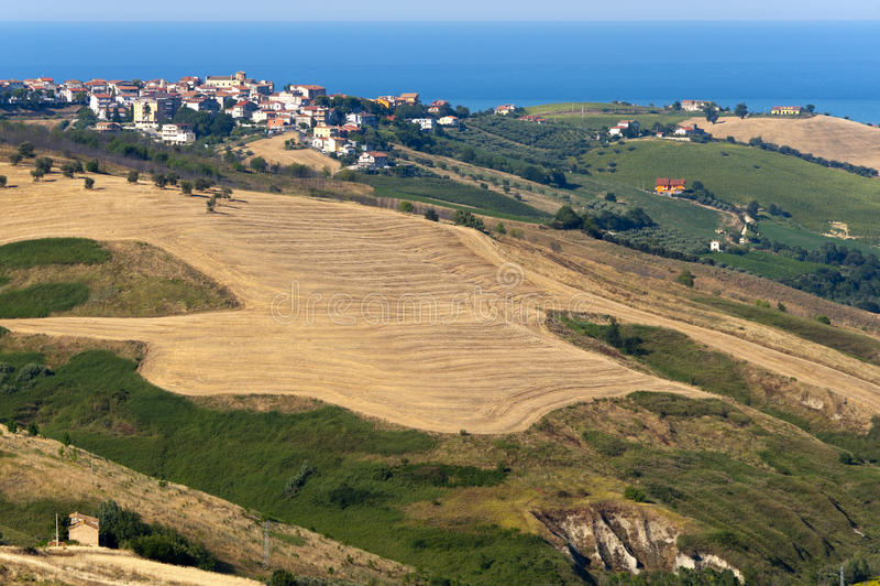 Atri Natural Park (Italy), landscape at summer, royalty free stock photography