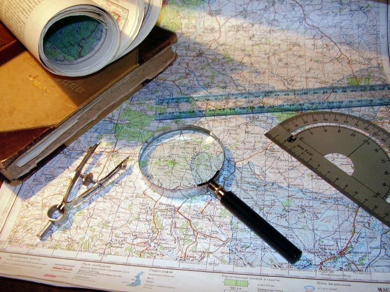 Atributos del viajero. imagenes de archivo