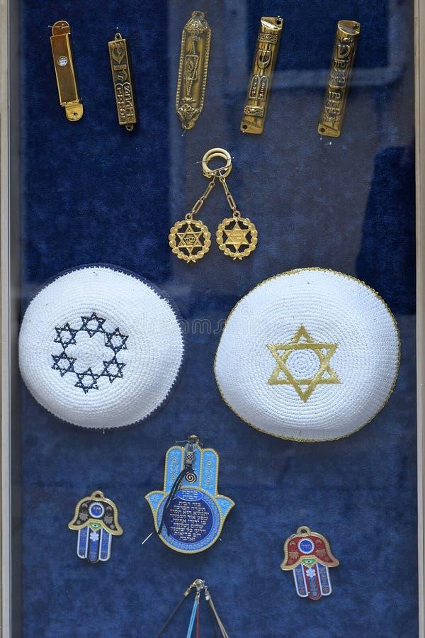 Atributos e símbolos do judaism imagem de stock royalty free