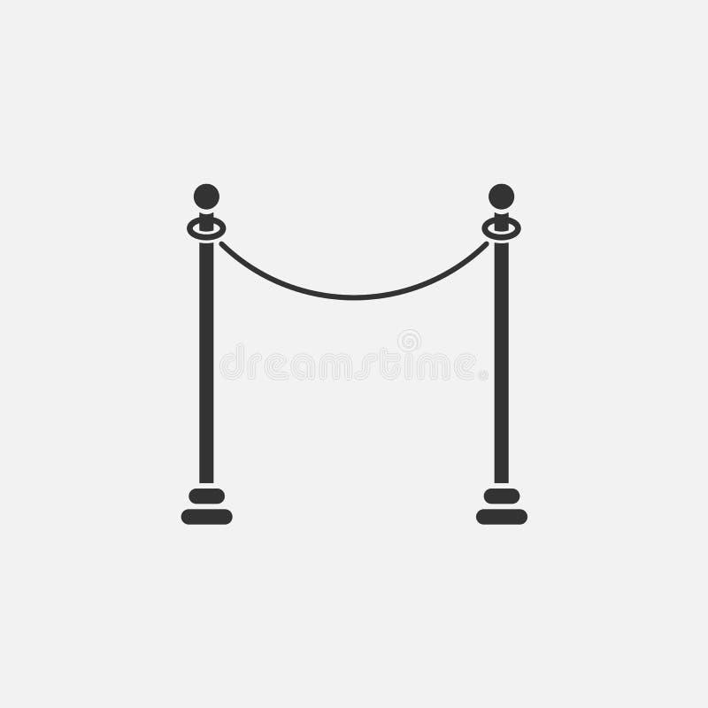 Atrinchérese el icono, desventaja, enredo, obstáculo, seto, embarazo, barricada stock de ilustración