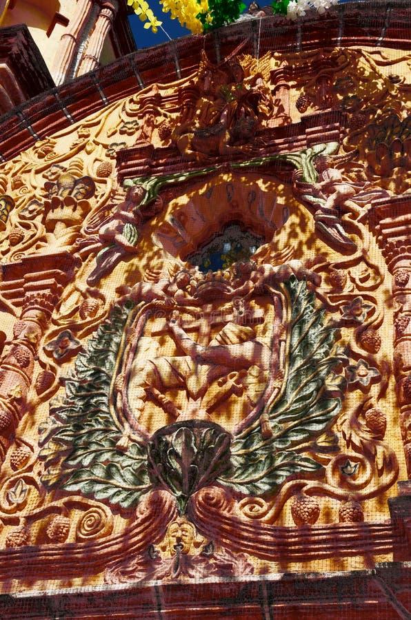 Atrio del ³ n de Conca Church de Misià imágenes de archivo libres de regalías