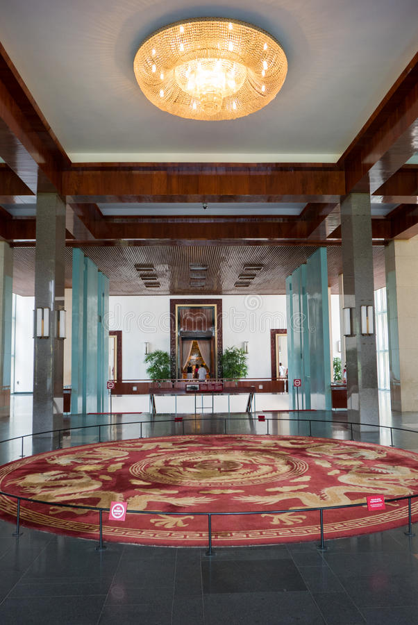 Atrio del palazzo di indipendenza in Ho Chi Minh City, Vi fotografie stock libere da diritti