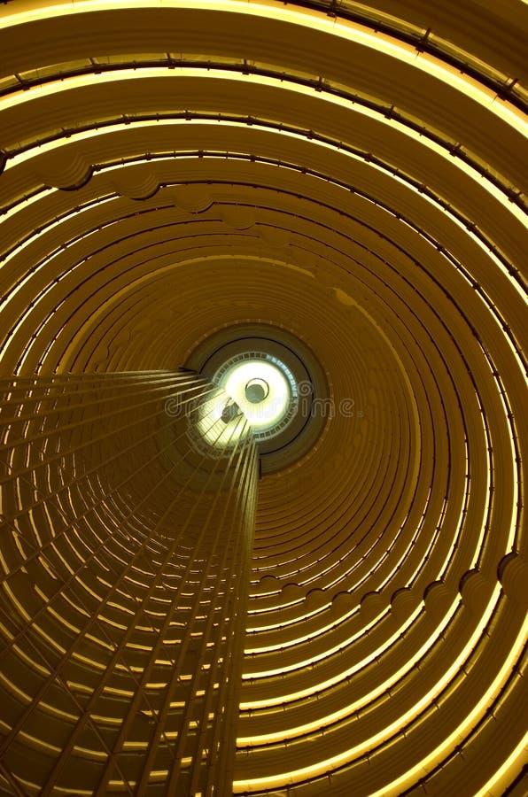 Atrio di Hyatt della torretta del Jin Mao grande fotografia stock libera da diritti