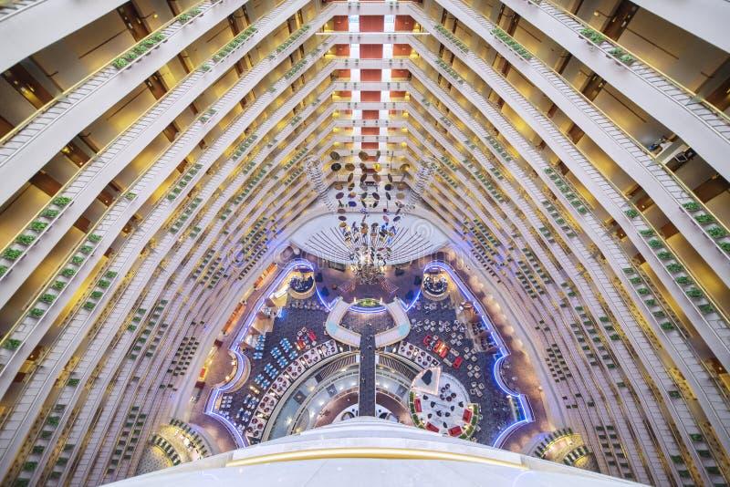 Atrio in Marina Mandarin Hotel Singapore fotografie stock