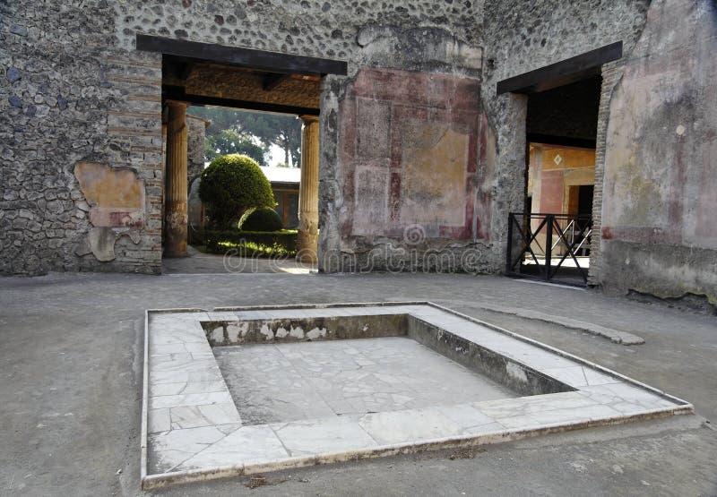 Atrio - Pompeii foto de archivo